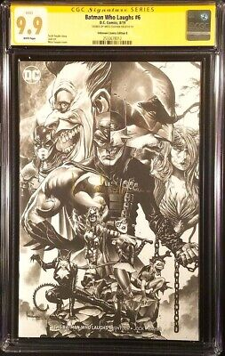 Batman Who Laughs #6 Cgc Ss 9.9 Mico Suayan Sketch Variant Grim Knight Joker Dc