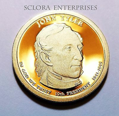 "2009 S John Tyler Presidential Dollar /""Imperfect/"" PROOF US Coin Discounted!"