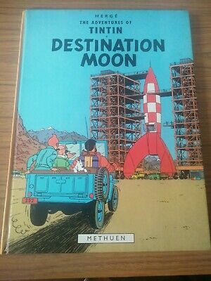 Vintage HERGE The Adventures of TinTin DESTINATION MOON-H/C Hard to Find 1978