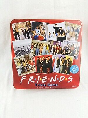 Friends TV Show 2003 Trivia Game Picture Cards In Collectible Red Tin