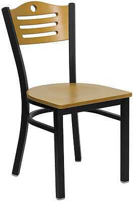 Restaurant Dining Chairs (8) Natural Wood Back And Seat Lifetime Frame Warranty