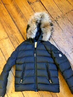 MONCLER black down padded puffa jacket age 14 - read description