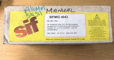Sif Welding Mig Wire 4043A Aluminium 1.6mm 6.5KG