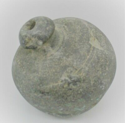 Byzantine Era Ancient Greek Terracotta Fire Grenade Circa 700 - 800 Ad