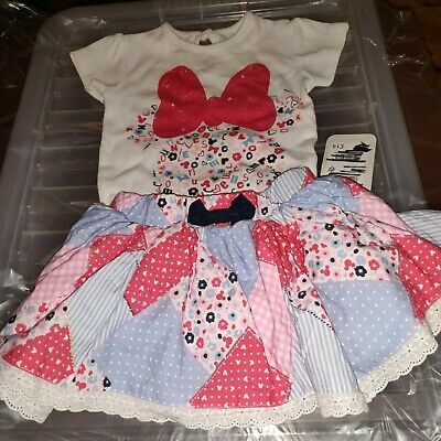 Next Outfit 3-6 Month Girls Skirt And Vest Top New