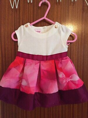 STUNNING GENUINE TED BAKER BABY GIRLS PARTY DRESS AGED 0-3m