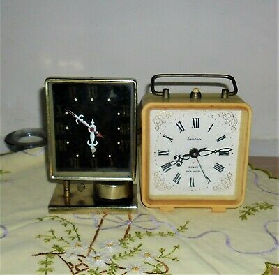 Two vintage alarm clocks A/F