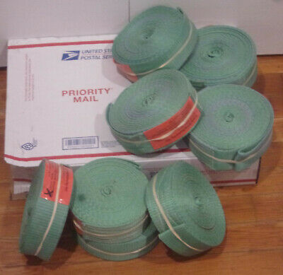 """(8) Eight 12'x2"""" Endless Loop Polyester Lifting Slings or Tow Straps – used"""