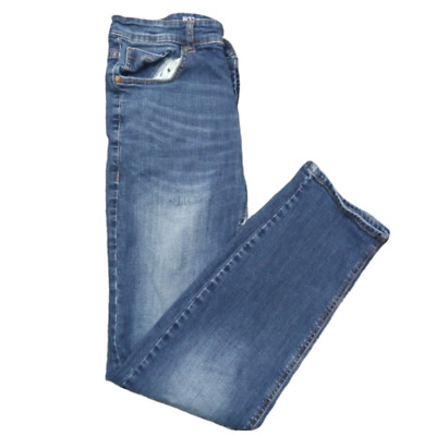 Mens Slim Fit Jeans from Denim Co Dark blue size W32 L30 Button Fly