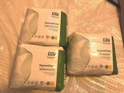 Lille Healthcare Suprem Incontinence Pull Up Pants Size M 3packs of 14=32pk #061
