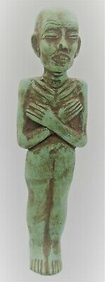 Superb Ancient Egyptian Glazed Faience Ushabti Shabti Figurine
