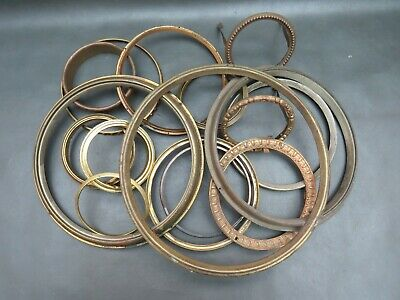 Job lot of 16 antique & vintage clock bezels - spares and parts