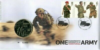 2008 Territorial Army Royal Mint medal first day cover Wilton Salisbury SHS