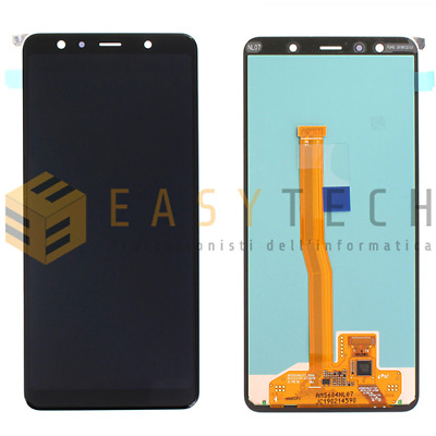 Display Lcd + Touch Screen Originale Samsung Galaxy A7 2018 A750F Sm-A750F Nero