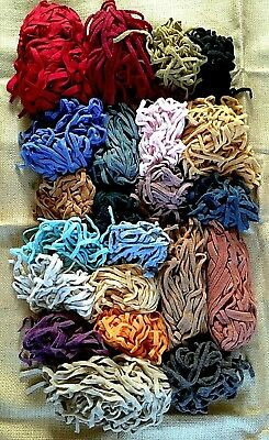 """LOT Punch Needle Wool Strips 1/4"""" Needle Punch Rugs"""