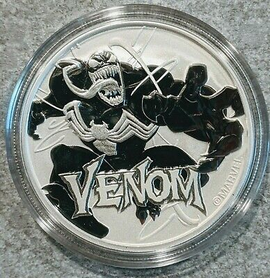 New 2020 Tuvalu VENOM Marvel Series 1 oz Silver Bullion Coin in Capsule