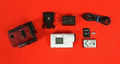Sony HDR-AS300 Camcorder -  White (with Waterproof Case)
