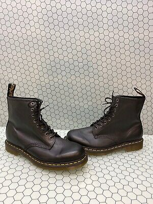 Dr. Martens 1460 Black Leather 8-Eye Lace Up Ankle Boots Men Size 11  Women's 12