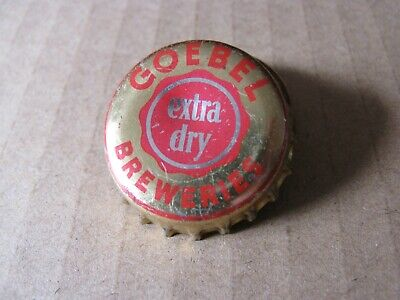 Goebel  Breweries Brewing Co Detroit Michigan Vintage Cork Beer Cap Collectible