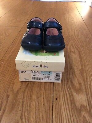 Girls Startrite Black Shoes Infant Size 4F