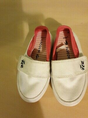 LACOSTE toddlers Size 5 Canvas Shoes.girls