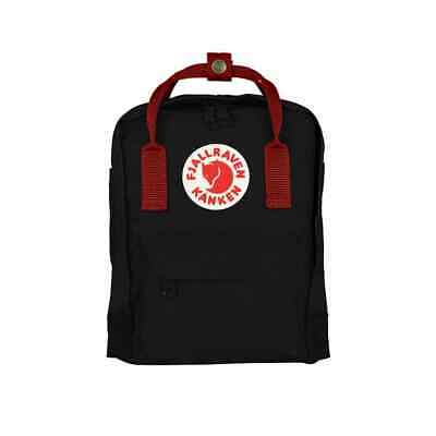 SALE EVENT Fjallraven Kanken Mini Black Ox Red