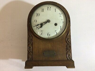 Presentation Clock For Services During The Great War, Oak Case - Hac - Project