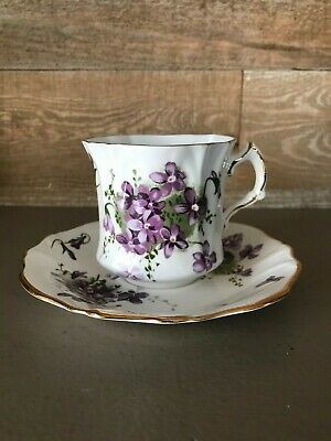 Hammersley Victorian Violets from Englands Countryside Tea Cup and Saucer