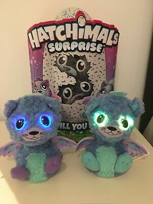 Genuine HATCHIMALS Surprise TWINS peacats electronic pets blue with box