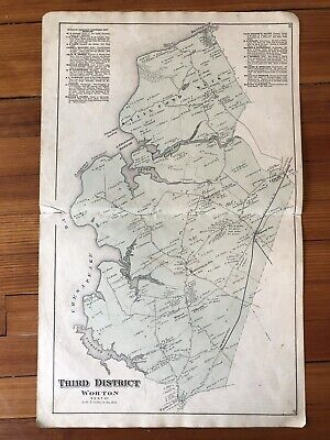 rare 1877 KENT COUNTY Maryland Hand Color STREET MAP of HANESVILLE Smithville