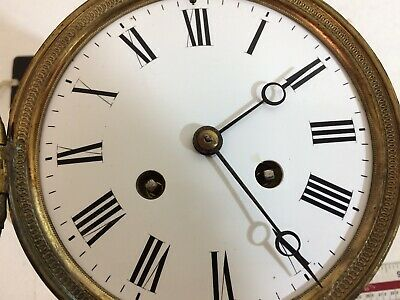 FRENCH CLOCK MOVEMENT WITH BEZEL, BELL AND BACK HINGED DOOR - spares repairs
