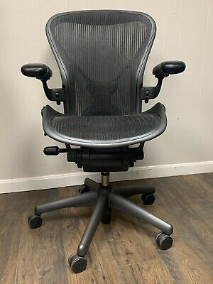 "HERMAN_MILLER_AERON_CHAIR_""POSTURE_FIT""_WOW_FULLY_LOADED!!!_Size_B _Graphite"