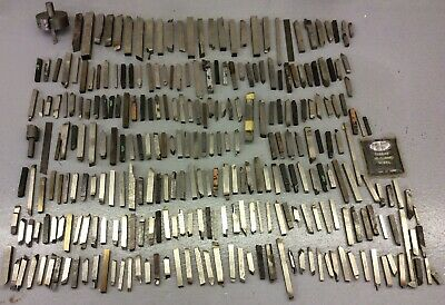Lot Of 100+ Brazed Carbide Lathe Tool Bits Used Machinist Tool