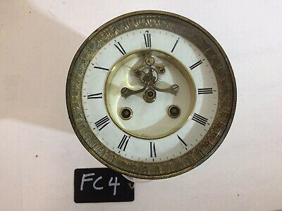 Antique French Clock Movement With Dial And Bezel. Spares Repairs