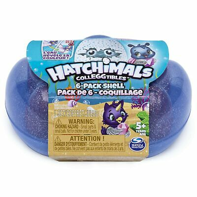 Hatchimals Colleggtibles, Mermal Magic 6 Pack Shell Carrying Case with Season...