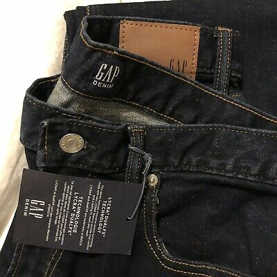 Blue Gap Washwell Jeans In Slim Straight Fit With Gap Flex Size 30 X 30 - New