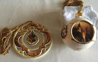 NEW! 2 AMAZING Harry Potter Ornaments from the Wizard World of HP in FLORIDA!!!!