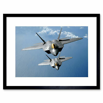 MILITARY AIR PLANE FIGHTER JET FA22 RAPTOR USAF POSTER ART PRINT PICTURE BB1074A