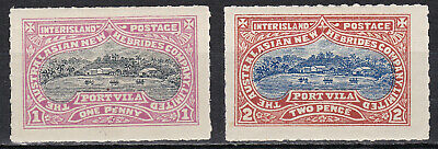 New Hebrides 1897 Inter-island Local Post set of two values