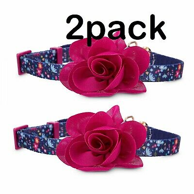 *NEW* Bond & Co. Pink Blooming Blossom Cat Collar (Pack of 2)