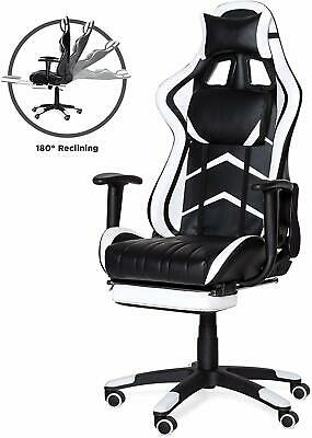 High Back Executive Office Computer Racing Gaming Chair w/ 360-Degree Swivel