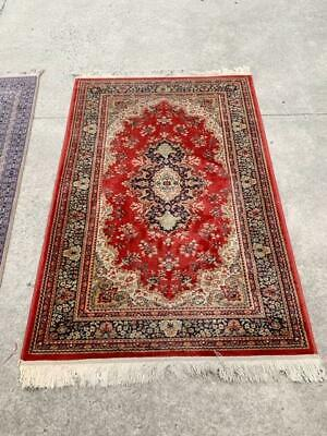 G4017 Vintage Wool Handknotted Red Rug 117x190