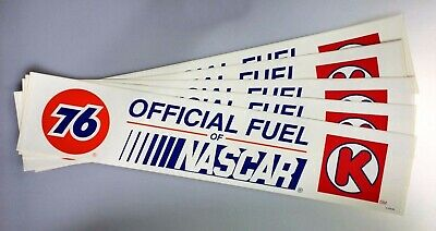 Union 76 Unocal Gasoline Fuel of NASCAR Lot of 5 Stickers Racing Circle K