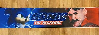 ⭐ SONIC THE HEDGEHOG (2020) - Movie Theater Poster Mylar Small Version 2x12