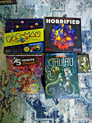 Board Game Lot: Pac-Man, Horrified, 5 Minute Dungeon, Pandemic Cthulhu, more 6