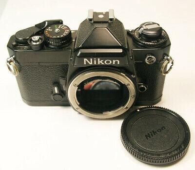 Nikon FE Black 35mm SLR Film Camera Body Super Clean