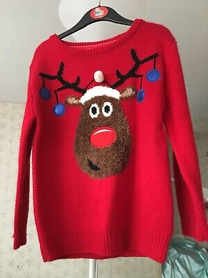 Christmas Jumper, Unisex, Boys, Girls, Kids 4-5 Years Used