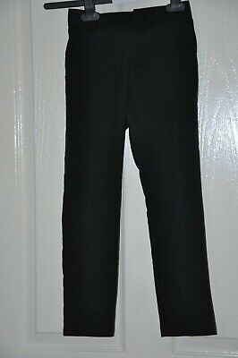 F&F boy's black school trousers, age 7-8 yrs : In good condition