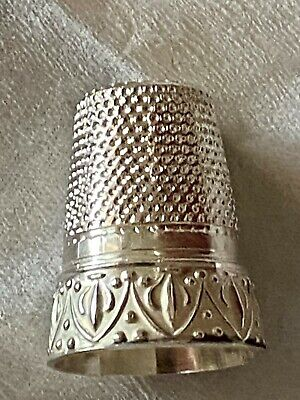 Sterling Silver Thimble - Star of David - Import Marks - 925