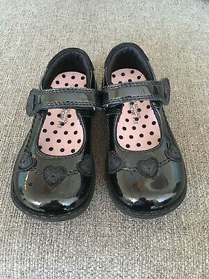 Girls Black Patent Shoes 8.5